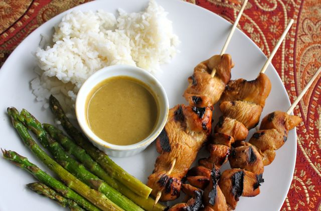 Post image for Chicken Saté with Peanut Dipping Sauce