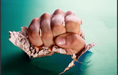 hand through wall