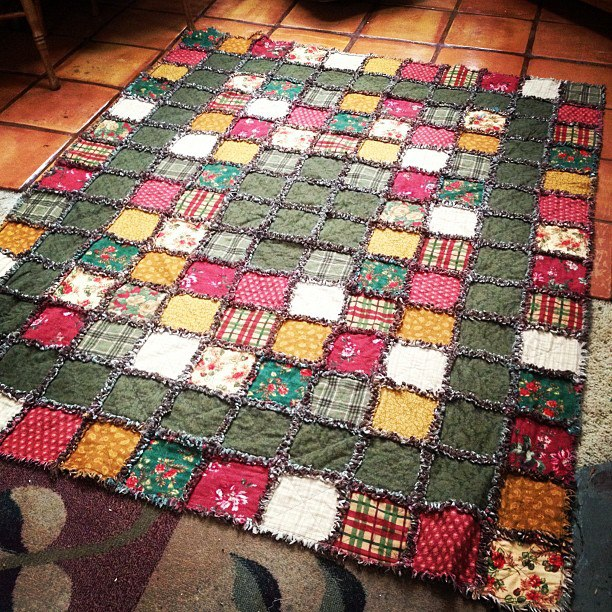 Flannel Rag Quilt Tutorial – Twig and Feather : rag quilt patterns - Adamdwight.com