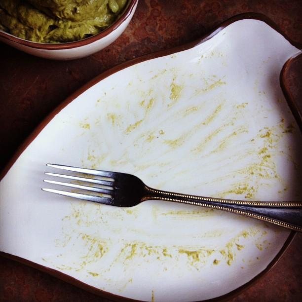 Avo-Pesto Pasta finished