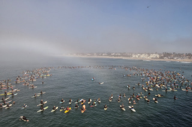 Pastor Chuck's paddle out rainbow