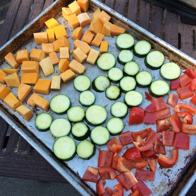 Post image for Roasted Veggies with a Spicy Cashew Cream … and a peek at Tahoe